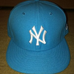 Sky Blue Fitted New York Yankees Hat - 7 3/8